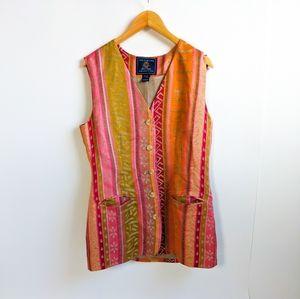 Vintage Bohemian Colorful Tunic Vest